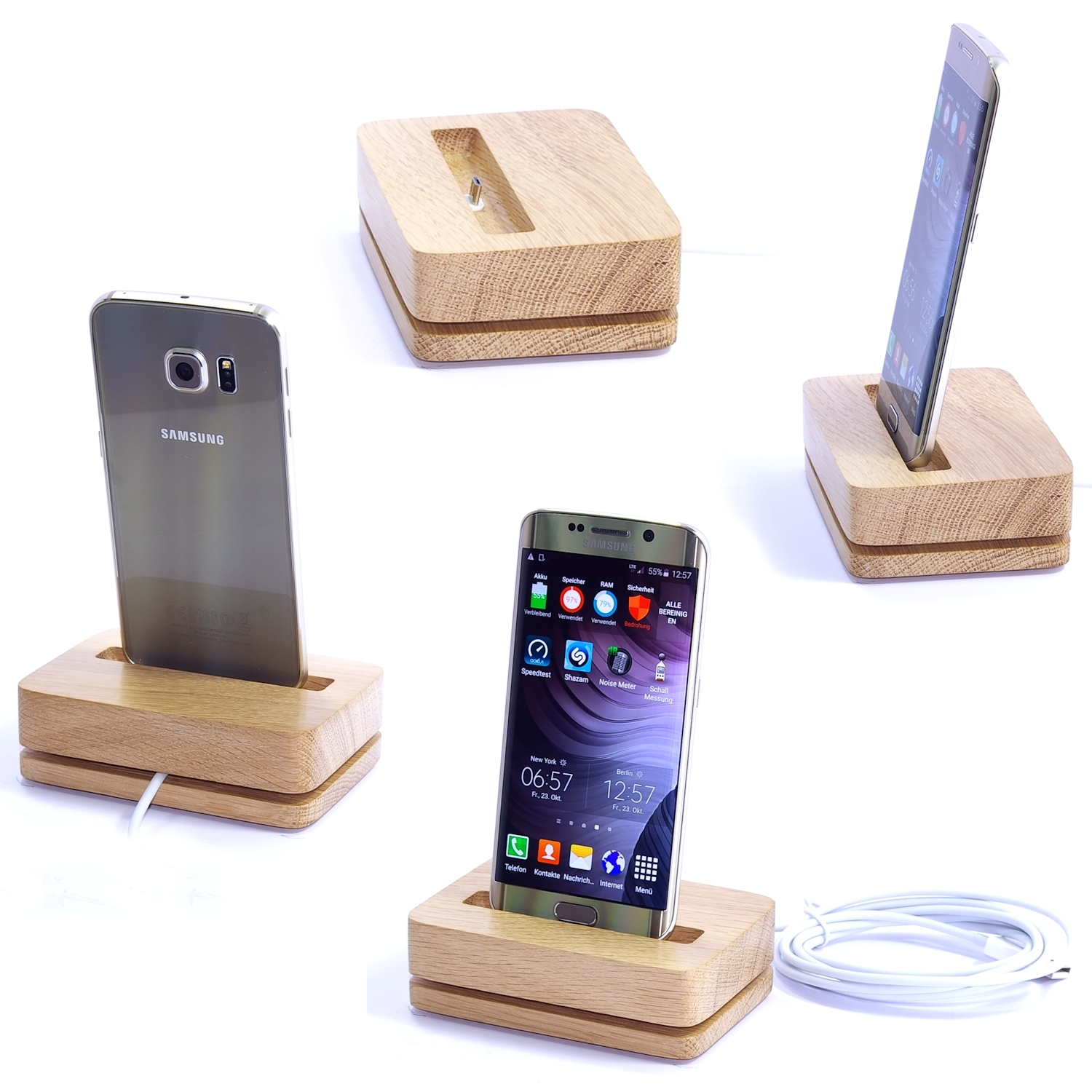 xpear holz design dock docking station ladestation. Black Bedroom Furniture Sets. Home Design Ideas