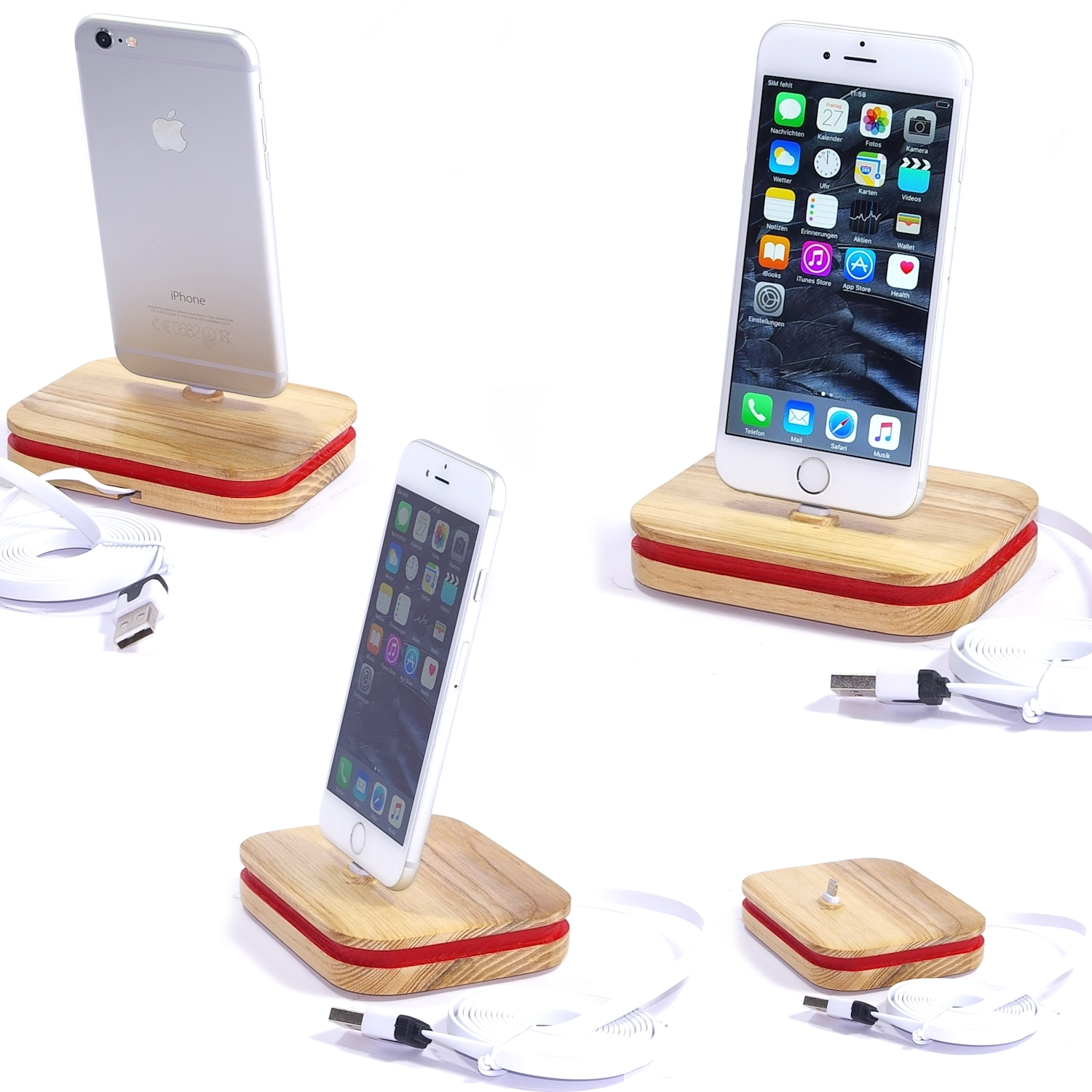 Xpear designer dock ladestation ladeger t docking station for Tisch iphone design
